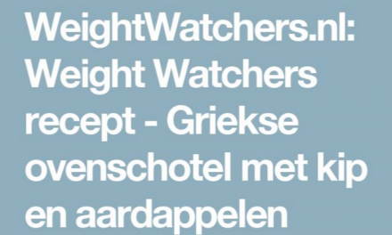 korting maandenplan Weight Watchers