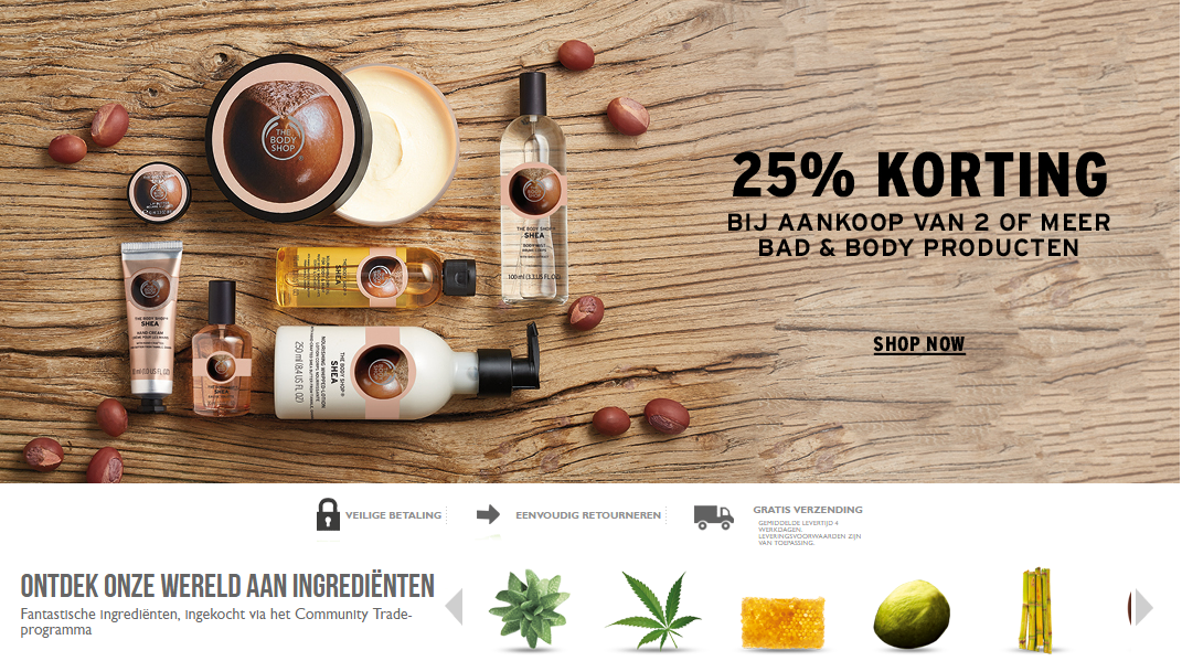 kortingscode the body shop